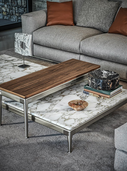 Coffee tables collection by Flexform, one of the best italian furniture Sydney has to offer