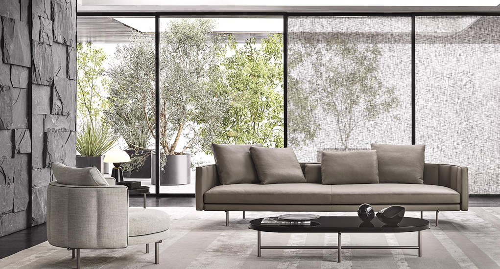 Living room collection of the Italian Furniture Brand Minotti, one of the best Luxury furniture Sydney has to offer