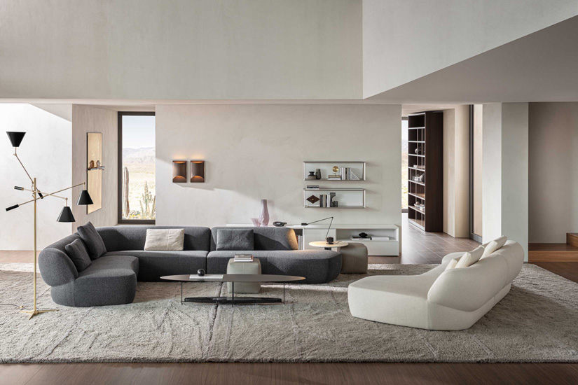 Surf Sofa designed by George Yabu Glenn Pushelberg for Molteni&C, one of the furniture stores you can find in Sydney. Discover the finest italian furniture Australia has to offer