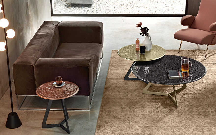 Lakes coffee table designed by Studio Klass for Fiam Italia, one of the most finest italian furniture Sydney has to offer