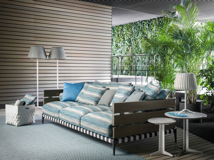Latest luxury outdoor collection by Flexform, one of the best italian furniture Sydney has to offer