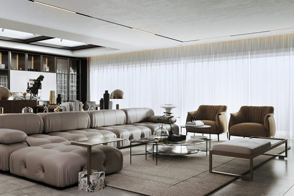 Living room project with luxury Style and Italian quality. Discover our selection of the best interior designers in Egypt