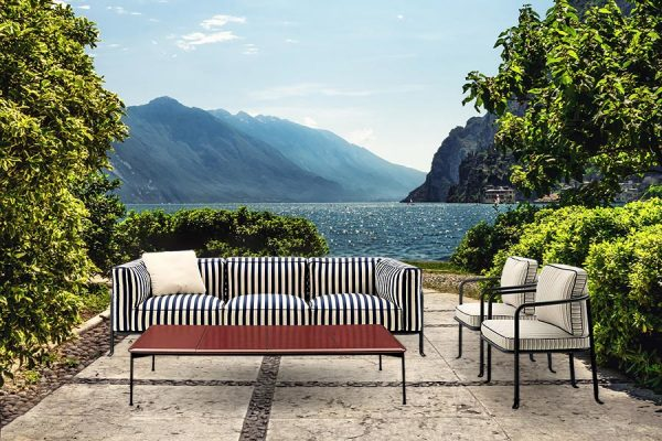 Characterised by durable outdoor-erady materials and lightweight aluminium structures, Borea Collection by B&B Italia is the new 2021 collection of luxury garden furniture design
