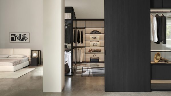 Porro bedroom and walk-in-closet. Porro is one of the best luxury italian furniture Hong Kong has to offer