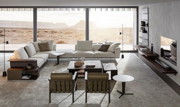 Living Room design by Molteni&C, one of the Best furniture stores in Cairo