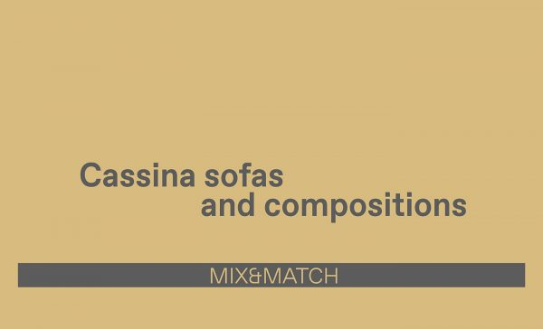 Cassina Sofas and compositions by Esperiri Milano
